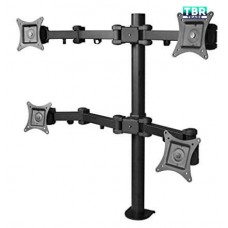 "Siig CE-MT0S12-S1 Articulating Quad Monitor Desk Mount Plasma / LCD 13""-27"""