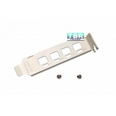 Low Bracket for Nvidia NVS 510 Video Graphics Card SFF Half Height Short Profile NVS510