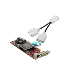 ATI Radeon HD 3450 256MB Low Profile Graphics Card Full Size Bracket DMS-59 to Dual VGA Adapter