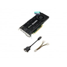Dell NVIDIA Quadro K4200 4GB 2 DP DL-DVI-I 490-BCGE Video Card