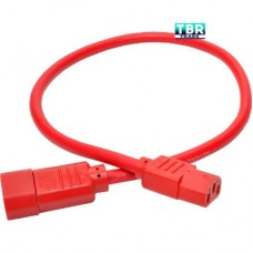 Tripp Lite Heavy Duty Power Extension Cord 15A 14 AWG C14 to C13 Red 2' 2ft